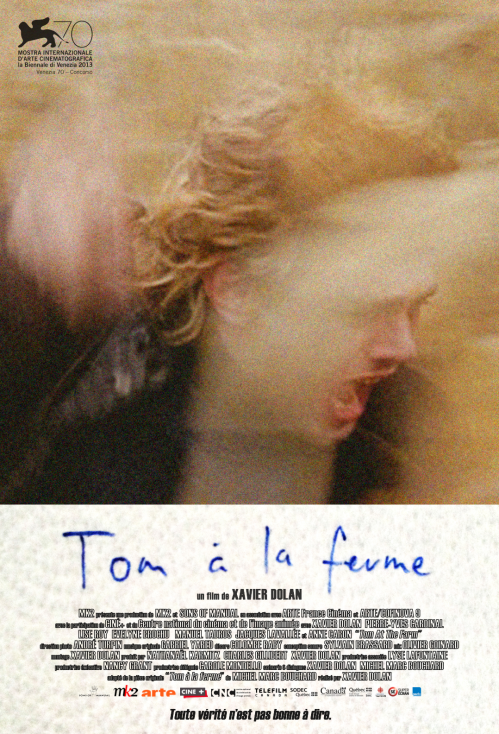 "Affiche francophone international de ""Tom à la ferme"""