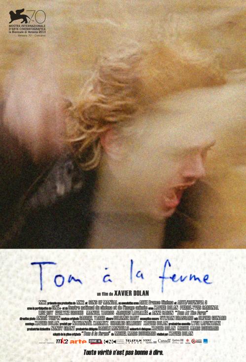 """Affiche francophone international de """"Tom à la ferme"""""""